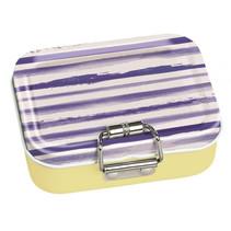 mini-bureaubox strepen staal geel/blauw/wit 7-delig
