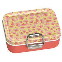mini-bureaubox panter staal geel/oranje/roze7-delig