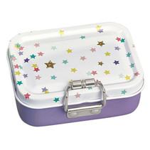 mini-burobox sterren meisjes staal paars/wit 7-delig