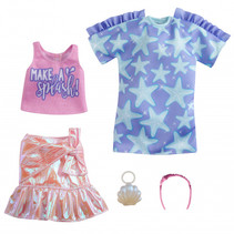 poppenkleding Fashion meisjes polyester roze 5-delig