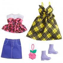 poppenkleding Fashion meisjes polyester geel 5-delig