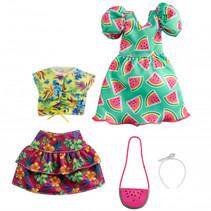 poppenkleding Fashion meisjes polyester groen 5-delig