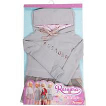 tienerpoppenkleding sweater & rok Rosuara textiel grijs