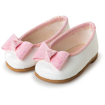 pop-accesoire schoenen meisjes textiel wit/roze