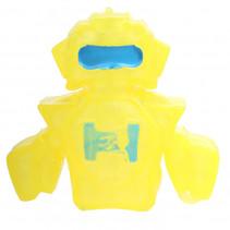 robot Squishy junior 10 x 8 cm siliconen geel/blauw