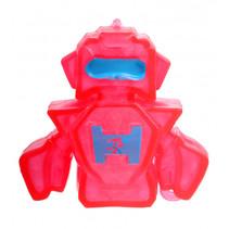 robot Squishy junior 10 x 8 cm siliconen rood/blauw
