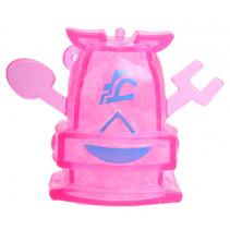 robot Squishy junior 10 x 8 cm siliconen roze/blauw