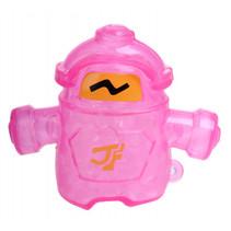 robot Squishy junior 10 x 8 cm siliconen roze/geel