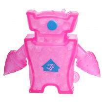 robot Squishy junior 10 x 8 cm siliconen roze