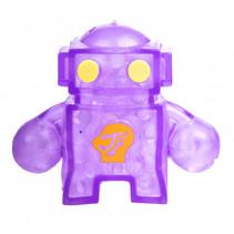 robot Squishy junior 10 x 8 cm siliconen paars/geel