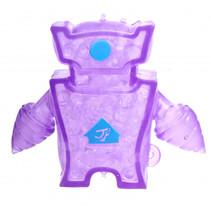 robot Squishy junior 10 x 8 cm siliconen paars/blauw