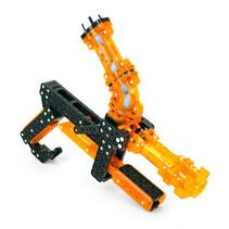 speelgoedrobot kogelkanon 140 onderdelen oranje/zwart
