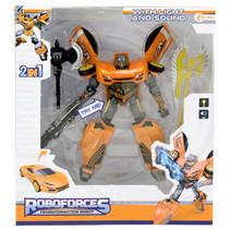 robot Roboforces jongens 19 cm oranje/zwart