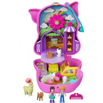 speelset Polly Pocket Farm Piggy 11,6 cm roze 7-delig