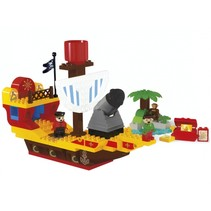 bouwset piratenschip 100-delig