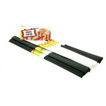 crepepapier zwart, wit 50 cm (B)