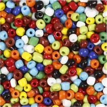 Rocaille-mix 4 mm diverse kleuren 1000gr