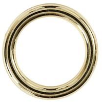 kunststof ring 15 mm goud 25 stuks