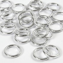 plastic ring zilver 25 stuks