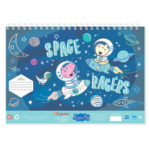 tekenblok Peppa Pig 33 x 23 cm blauw 40 pagina's 3-delig