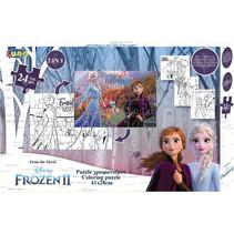legpuzzel Frozen II junior 41 x 28 cm karton 24 stukjes