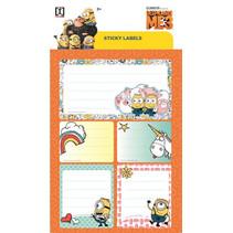 stickervel Minions junior 19 x 11 cm oranje 2 stuks