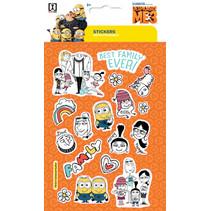 stickervel Minions Family junior 19 x 11 cm oranje
