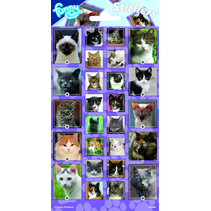 stickers Cats 20 x 10 cm papier paars 26 stuks