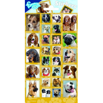 stickers Dogs 20 x 10 cm papier geel 26 stuks