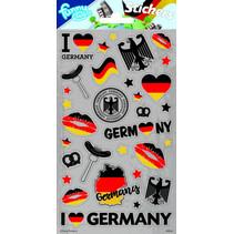 stickers Duitsland 20 x 10 cm grijs 28 stuks