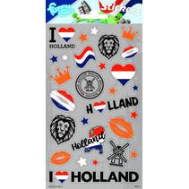 stickers Holland 20 x 10 cm grijs 28 stuks