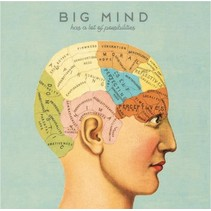 canvas schilderij 20 x 20 x 4 cm Big mind