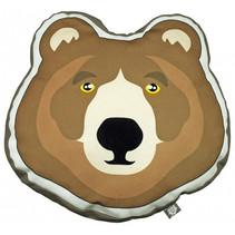 sierkussen Brown Bear junior 40 x 40 cm textiel bruin
