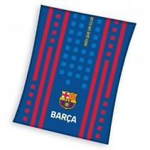 fleecedeken FC Barcelona 110 x 140 cm blauw