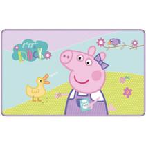 vloerkleed Peppa Pig 45 x 75 cm polyester roze/blauw