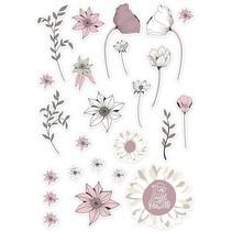 labels bloemen 2-10 cm 72 stuks
