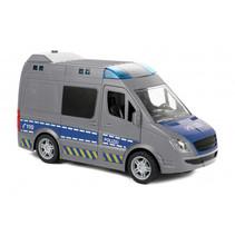 politiebus Duitse junior 29,2 x 12,7 x 11,8 cm grijs