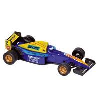 Metalen Auto: Formule 1 Racer Blauw 10,7 cm