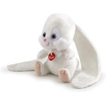 knuffel konijn junior pluche 10 x 16 cm wit
