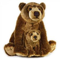 knuffelbeer grizzly junior 31 cm pluche bruin