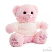 knuffelbeer met sweater junior 20 cm pluche roze