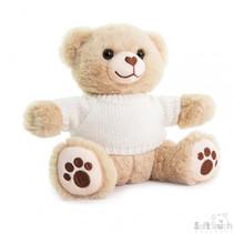 knuffelbeer met sweater junior 20 cm pluche bruin
