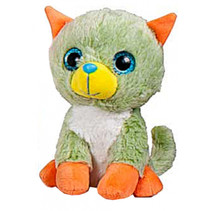 knuffeldier Animal Party junior 15 cm groen/oranje