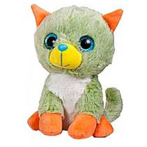 knuffeldier Animal Party junior 25 cm groen/oranje