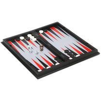 reisspel backgammon/schaken 24 cm zwart/wit