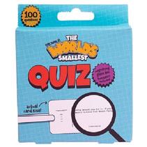 quiz Worlds Smallest papier blauw 102-delig