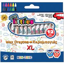 waskrijt XL junior 10 x 1,1 cm donkerblauw 12 stuks