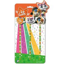 potlodenset Cats junior hout groen/oranje/wit 4-delig