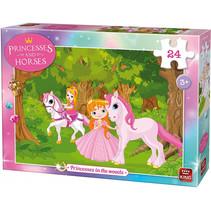 legpuzzel Princesses in the Woods meisjes karton 24-delig