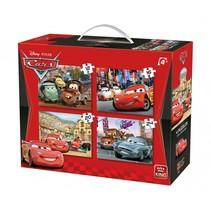 legpuzzels Disney Cars II 4-in-1 koffer 4 stuks